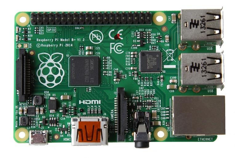 Raspberry Pi Model B+ (Bild: raspberrypi.org)