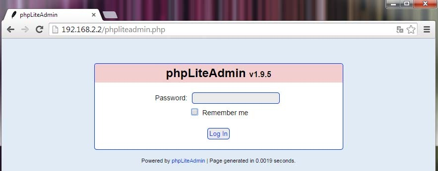 Screenshot phpLiteAdmin