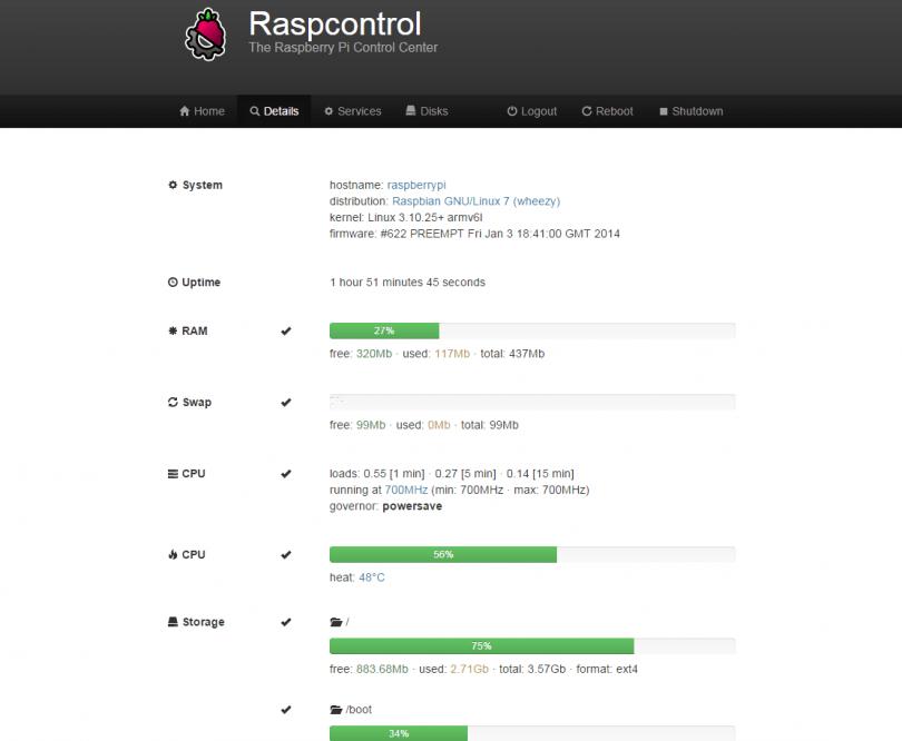 Raspberry Pi: Raspcontrol installieren und einrichten