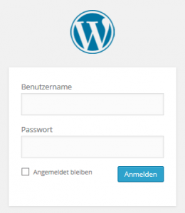 WordPress Login Screenshot