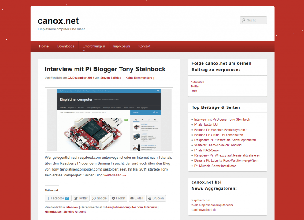 canox.net (Screenshot)