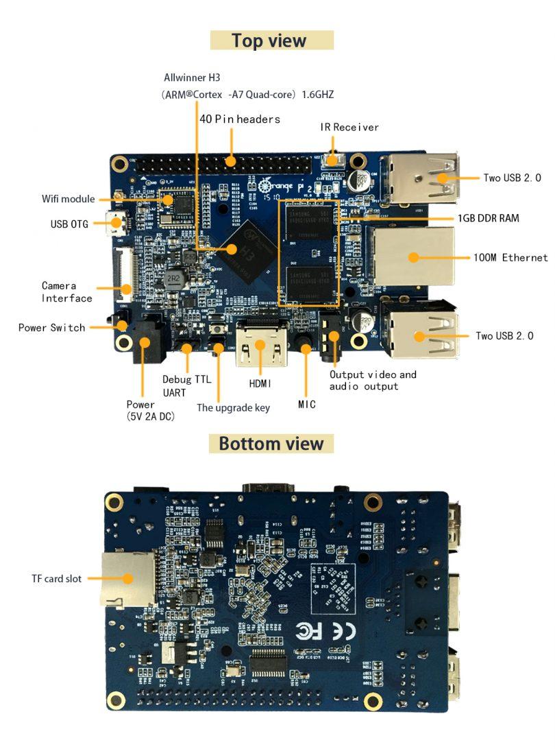Orange Pi 2: Neues Modell veröffentlicht