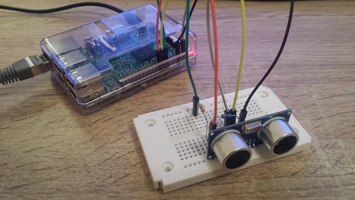 Raspberry pi: ultraschallsensor hc sr04 ansteuern entfernung messen
