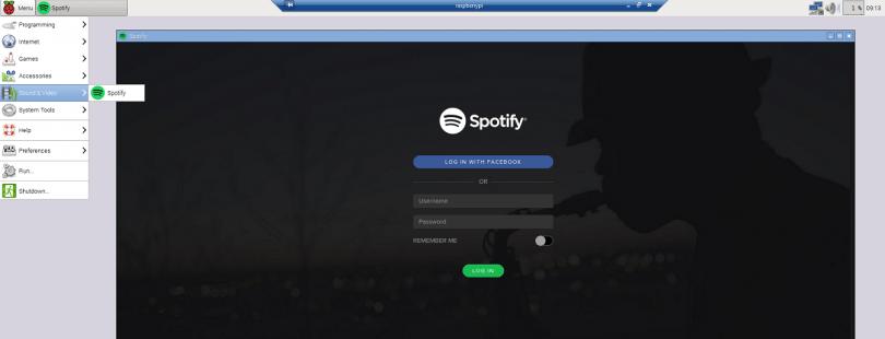 Raspberry Pi: Spotify Client