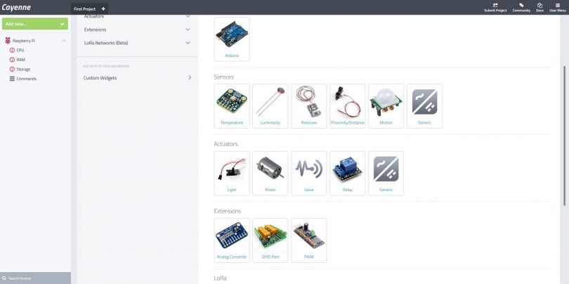 Cayenne Setup Hardware