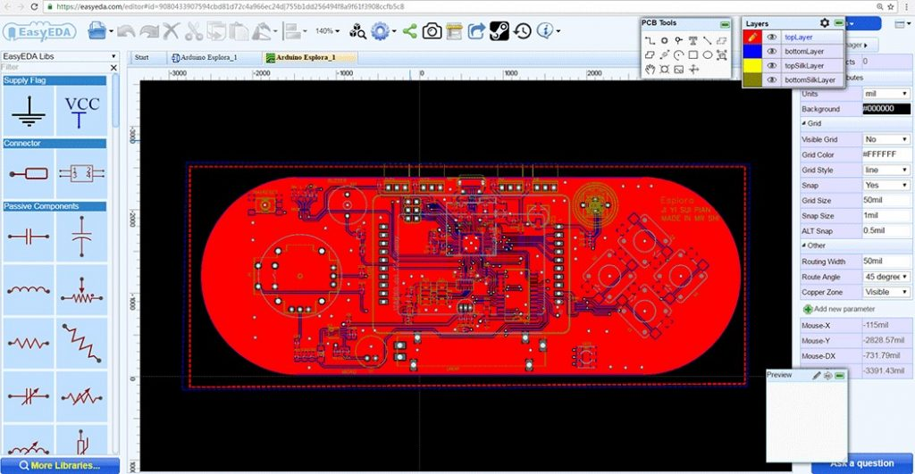EasyEDA PCB Designer
