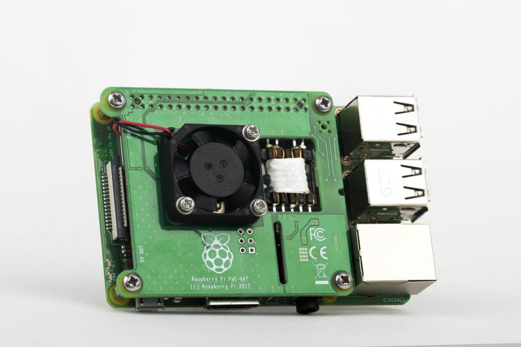 Raspberry Pi 3B+ PoE HAT (Bild: Raspberry Pi Foundation)