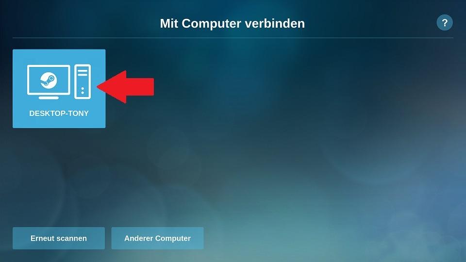 Raspberry Pi Steam Link: Computer verbinden