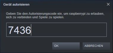 Steam: Gerät autorisieren